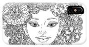 Uncolored Girlish Face For Adult IPhone X Case