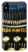 Underwood Typewriter IPhone Case