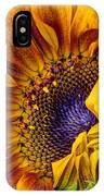 Unfurling Beauty - Cropped Version IPhone Case