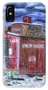 Union Pacific Train Car Painting IPhone Case