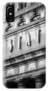 Union Station Chicago Sign In Black And White IPhone Case