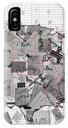 United States Map Collage 3 IPhone Case
