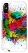 United States Paint Splashes Map IPhone Case