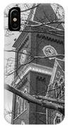 University Hall Tower Black And White  IPhone Case