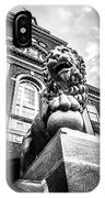University Of Cincinnati Lion Black And White Picture IPhone Case