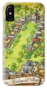 University Of Virginia Academical Village  With Scroll IPhone Case