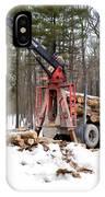 Unloading Firewood 1 IPhone Case