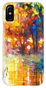 Unresolved Feelings - Palette Knife Oil Painting On Canvas By Leonid Afremov IPhone Case