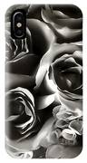 Bw Rose Bouquet 2 IPhone Case