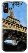 Up The Eiffel Tower 1 IPhone Case