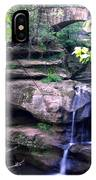 Upper Old Mans Cave Falls IPhone Case