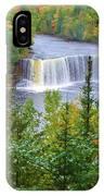 Upper Tahquamenon Falls In Early Autumn IPhone Case