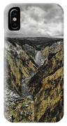 Lower Yellowstone Falls IPhone Case