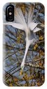 Upside Down Egret IPhone Case