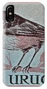 Uruguay Bird Stamp - Circa 1962 IPhone Case