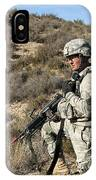 U.s. Army Soldier Scans For Simulated IPhone Case
