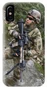 U.s. Army Soldier Walks Through A Creek IPhone Case