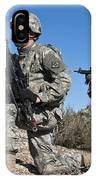 U.s. Army Soldiers Scan The Terrain IPhone Case