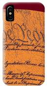 Us Constitution Closeup Sculpture Violet Red Background IPhone Case