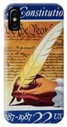 Us Constitution Stamp IPhone Case