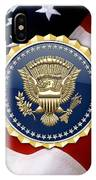 Presidential Service Badge - P S B Over American Flag IPhone Case