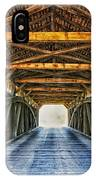 Utica Mills Covered Bridge IPhone Case