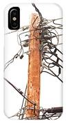 Utility Pole Hung With Electricity Power Cables IPhone Case