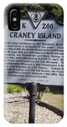 Va-k266 Craney Island IPhone Case