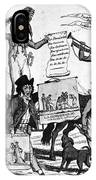 Vaccination Cartoon, C1800 IPhone Case