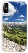 Val Badia From Gardena Pass IPhone Case