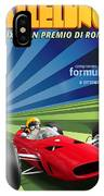 Vallelunga Gran Premio Di Roma 1967 IPhone Case