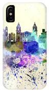 Valletta Skyline In Watercolor Background IPhone Case