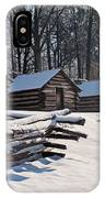 Valley Forge Cabins After A Snow IPhone Case