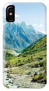 Valley Of River Ganga In Himalyas Mountain IPhone Case