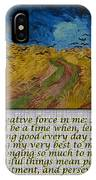 Van Gogh Motivational Quotes - Wheatfield With Crows II IPhone Case