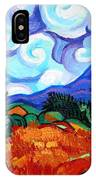 Van Goghs Wheat Field With Cypress IPhone Case