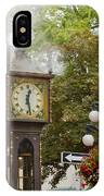 Vancouver Bc Historic Gastown Steam Clock IPhone Case