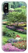 Vancouver Butchart Sunken Gardens Beautiful Flowers No People Panorama IPhone Case