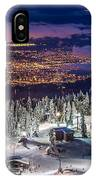 Vancouver City Panorama From Grouse Mountain  IPhone Case by Pierre Leclerc Photography