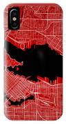 Vancouver Street Map - Vancouver Canada Road Map Art On Color IPhone Case