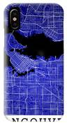 Vancouver Street Map - Vancouver Canada Road Map Art On Colored  IPhone Case