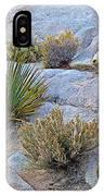 Varied Desert Flora Along Barker Dam Trail In Joshua Tree Np-ca IPhone Case