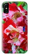 Variegated Multicolored English Roses IPhone Case