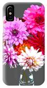 Vase Of Bright Dahlia Flowers Posterized IPhone Case