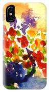 Vase With Multicolored Flowers IPhone Case