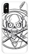 Vector Illustration Of A Black Skull IPhone Case