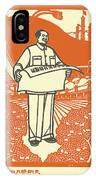Vector Of Chairman Mao Related Poster IPhone X Case