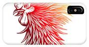 Vector Red Rooster Head Illustration IPhone X Case