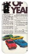 Vega - Car Of The Year 1971 IPhone Case