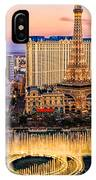 Vegas Water Show IPhone Case